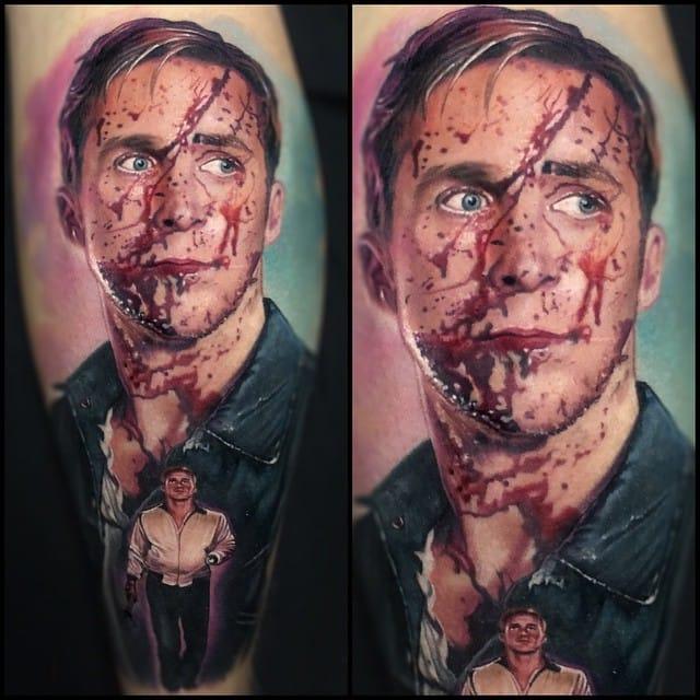 Horror movie tattoo