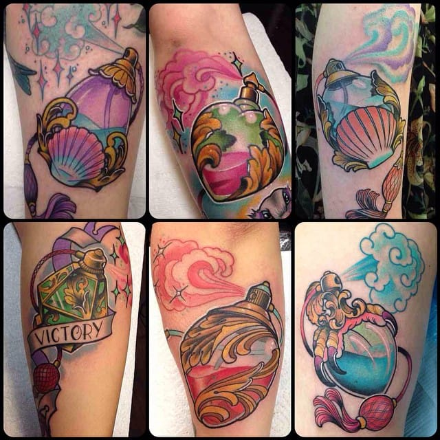 15 Luxurious Perfume Bottle Tattoos Tattoodo
