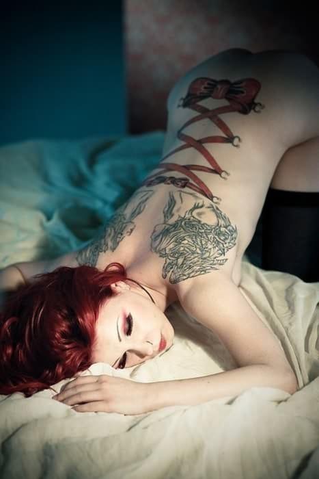 Corset Style Tattoo