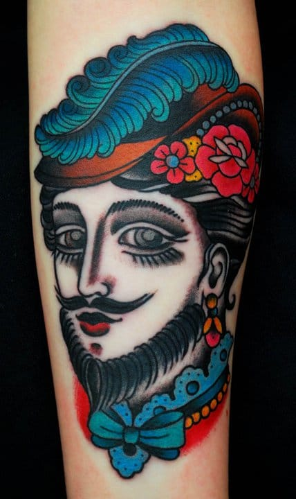 Bearded lady by Miss Arianna.