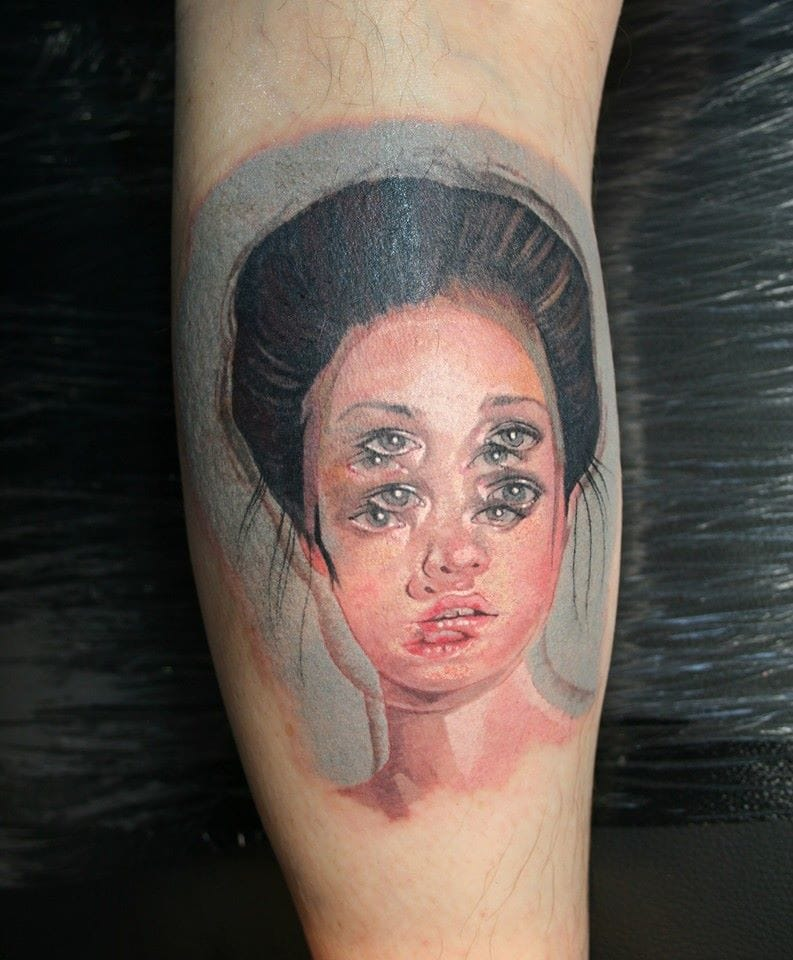 These Dizzying Trippy Tattoos Will Make Your Head Spin