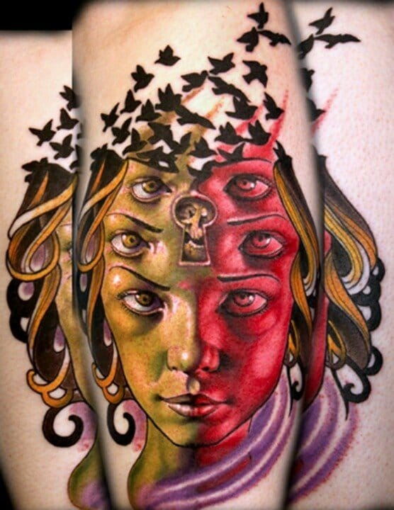 Sean Herman has done so many trippy tattoos your head would explode if we feature them all...