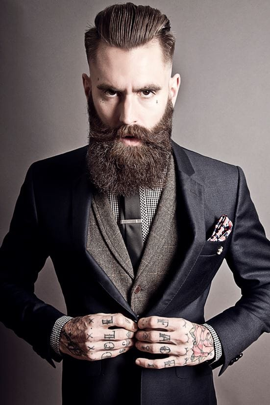 Mr. Hall's beard is almost as impressive as his tattoos!