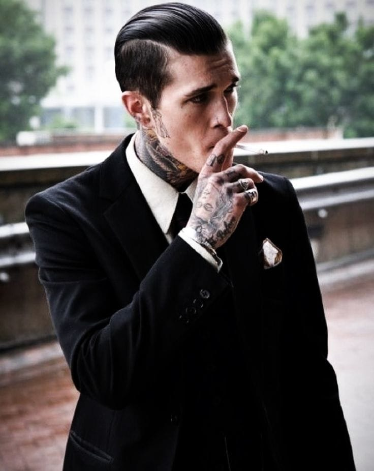 What's better Jimmy's tattoos or the suit??