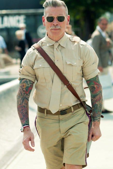 Street style icon Nick Wooster