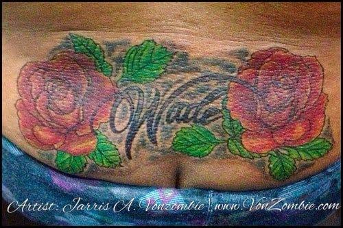 """Famosa tatuagem no """"cofrinho"""" de Jarris"""