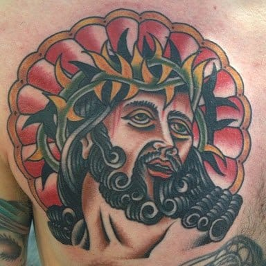 A traditional take on Christ with the Crown of Thorns