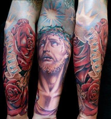 New-school Jesus Christ tattoo