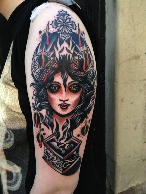 Another visually-stimulating tattoo by Joe Ellis.