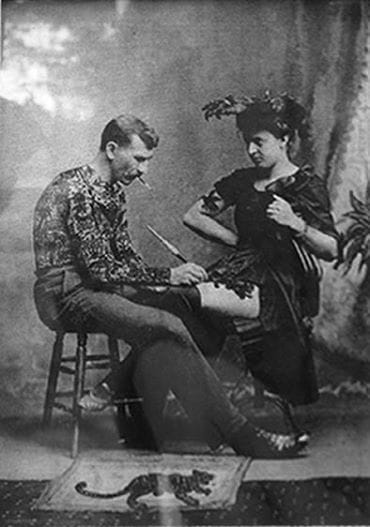 Gus Wagner, Maud's husband was also a performer and tattoo artist