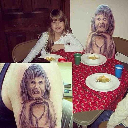 Portrait tattoo fail