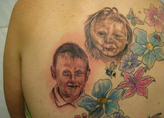 Baby portrait tattoo fail