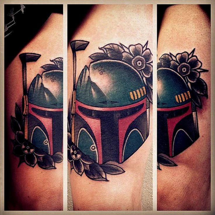 Awesome Boba Fett tattoo