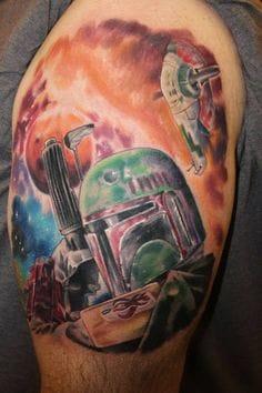 Boba Fett tattoo by Casey Baker