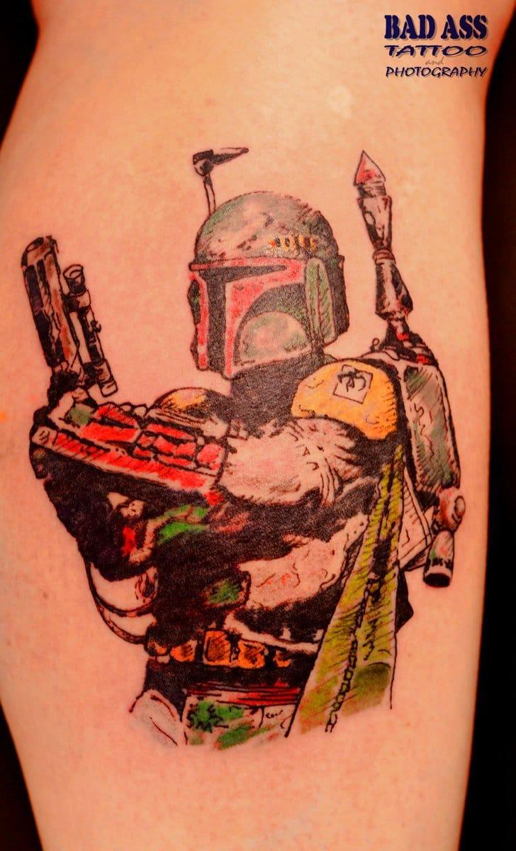 Creative Boba Fett tattoo
