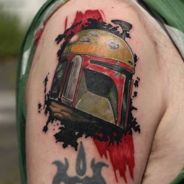 Helmet Tattoo by JR Verger