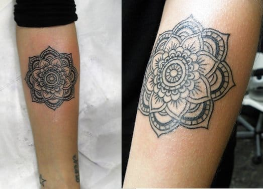 Mandala tattoo, artist unknown.