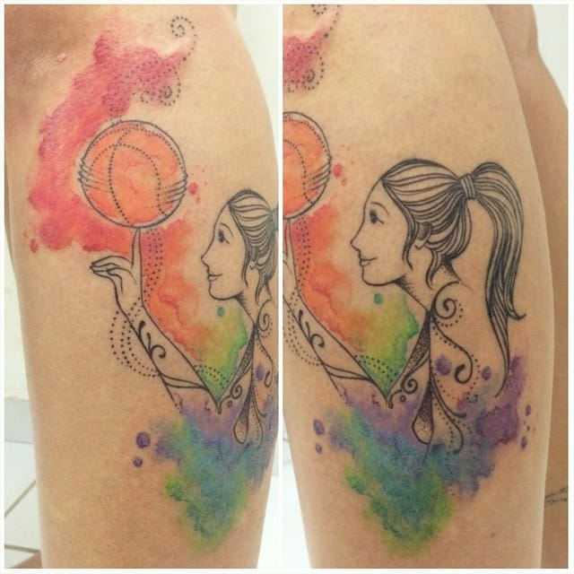 Lovely basketball piece by Isa Monténégro.