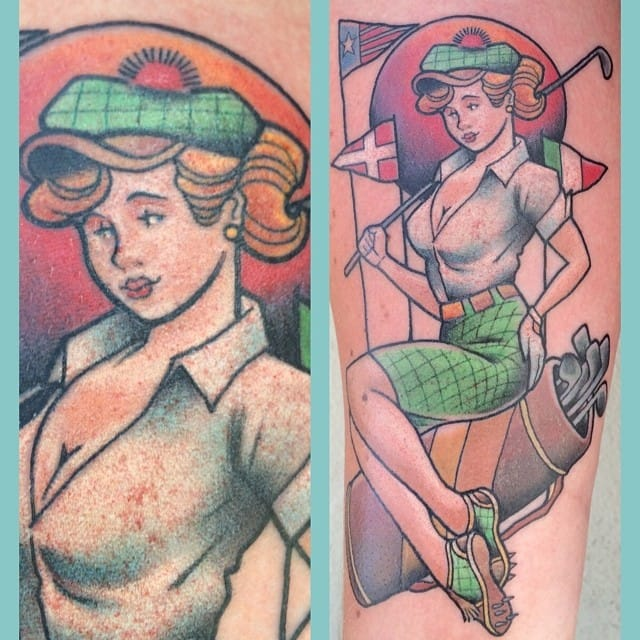 Cute golf pin-up by Mr Martin...