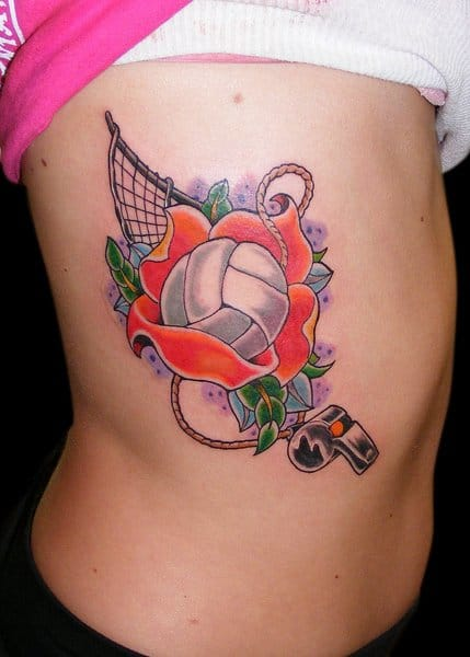 Nice volleyball tattoo. Please credit the artist. Want more sports tattoos? wait for part 2...