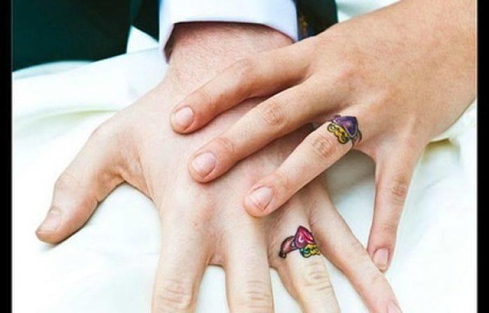 Wedding ings tattoos