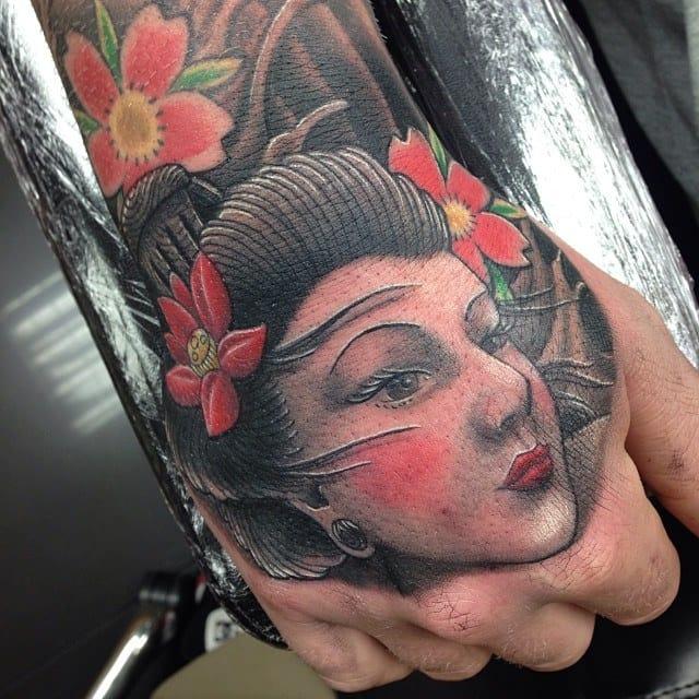 Geisha Hand Tattoo by Craig Holmes