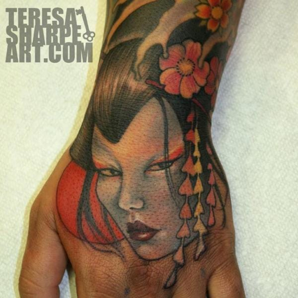 Geisha Tattoo by Teresa Sharpe
