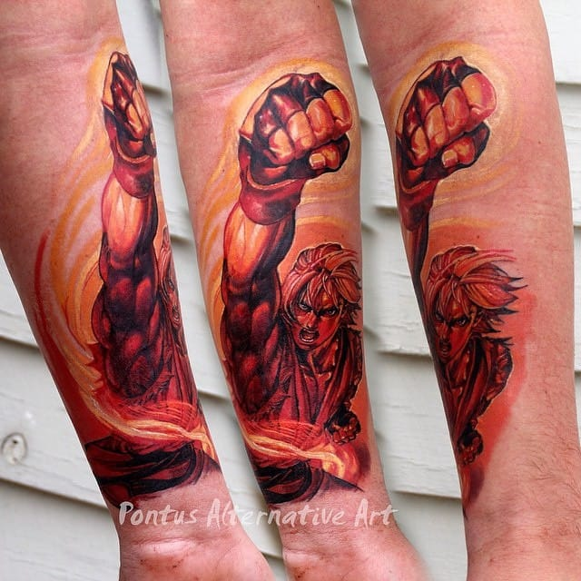 Street Fighters piece by Pontus.