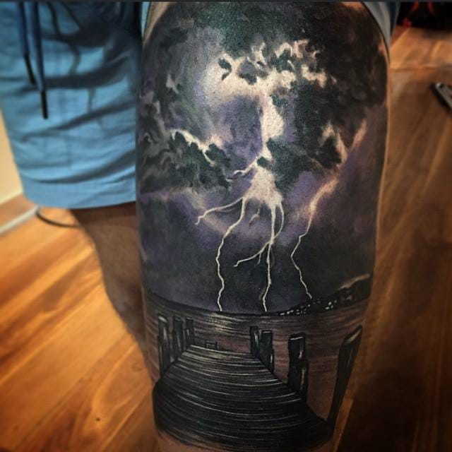 thunder tattoo by Dylan Weber