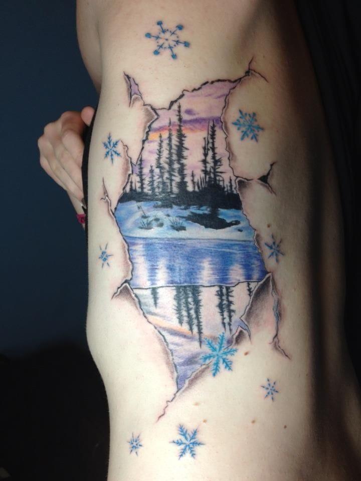 Snowing under your skin, by Elliot Masker.