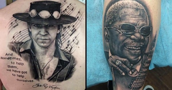 portraits of the blues awesome blues musician tattoos tattoodo. Black Bedroom Furniture Sets. Home Design Ideas