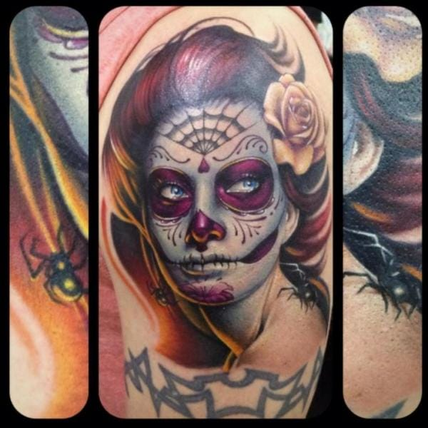Day Of The Dead Women Tattoo