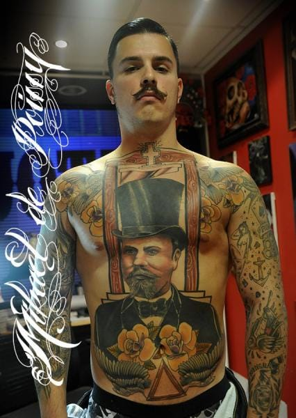 Guillotine Man Tattoo by Mikael de Poissy