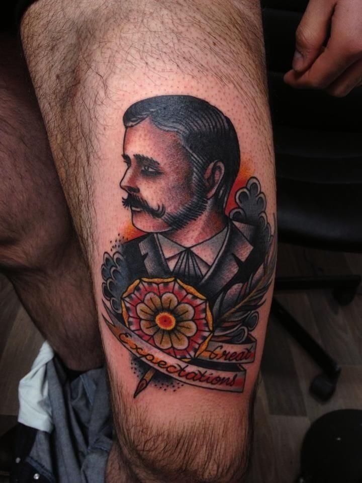 Gentleman leg piece, artist unknown