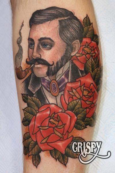 Men Flower Tattoo by Third Eye Tattoo