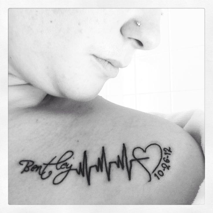 Heartbeats tattoo