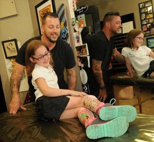 Awesome Tattooed Leg Braces