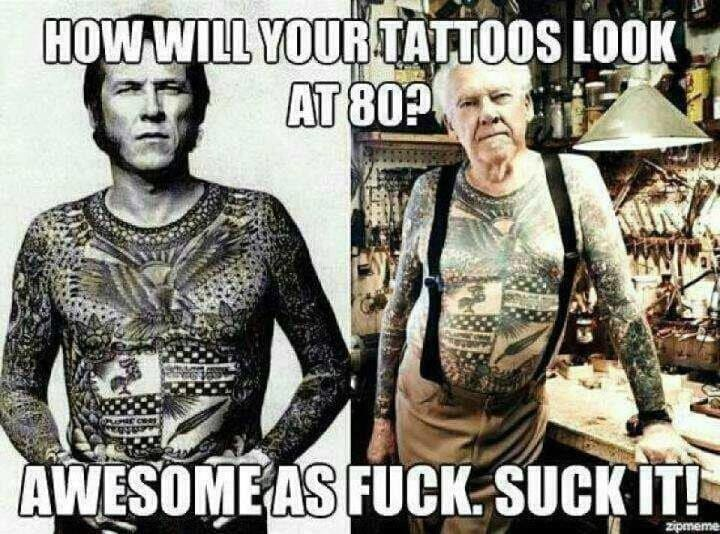 Grandpa with tattoos rocks!