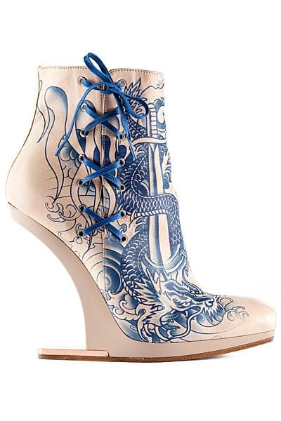 Tattoo-inspired shoes