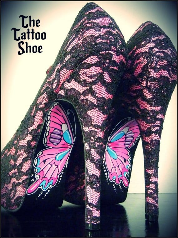 Tattoo-inspired shoes for the Ladies