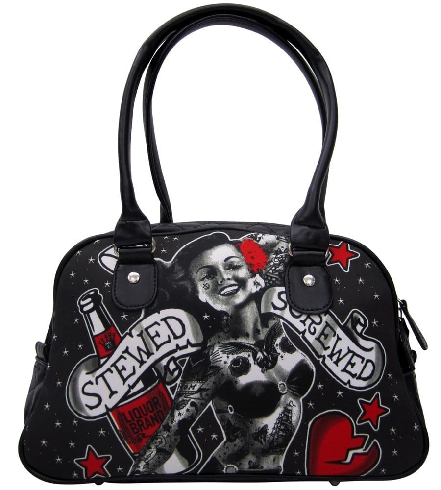 Bag with tattoos