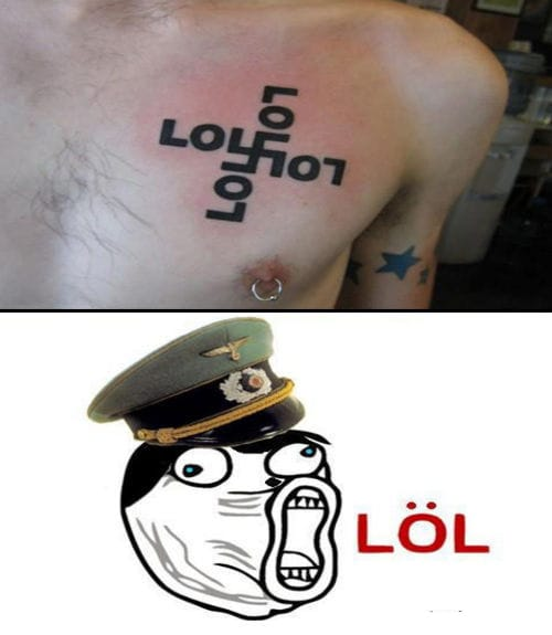 Innovative LOL tattoo