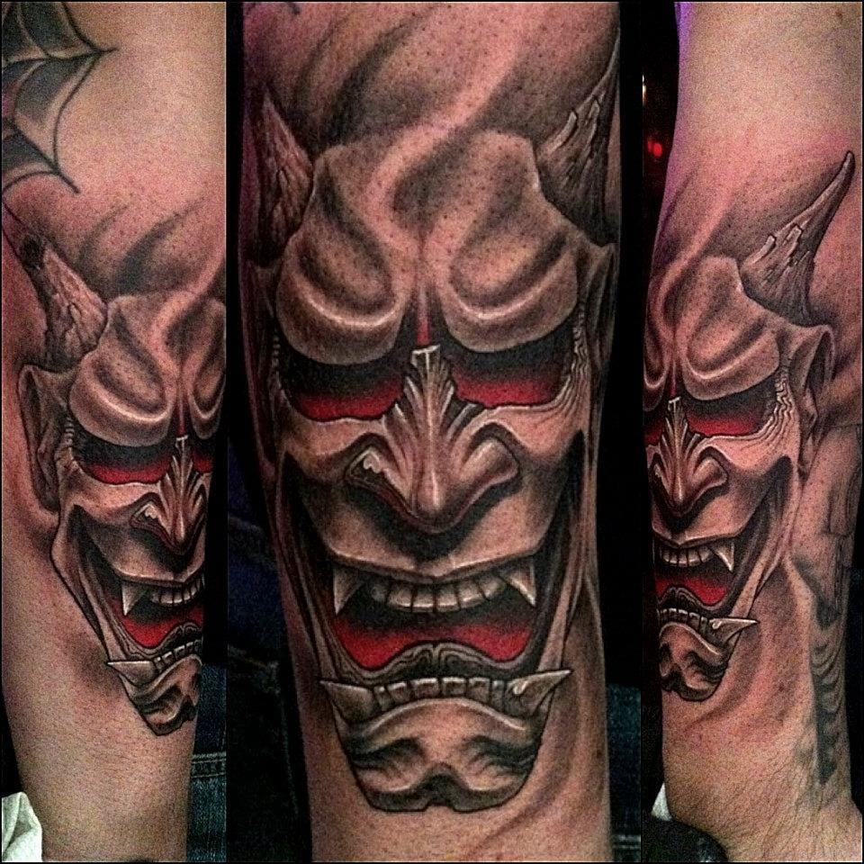 Scary, evil tattoo