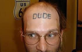 Dude forehead tattoo