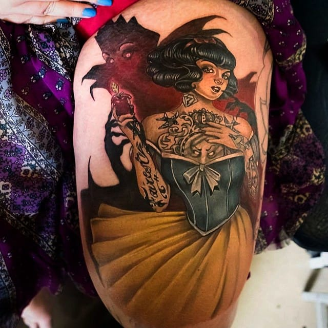 Gorgeous tattooed Snow White by Kiefer Lilley!