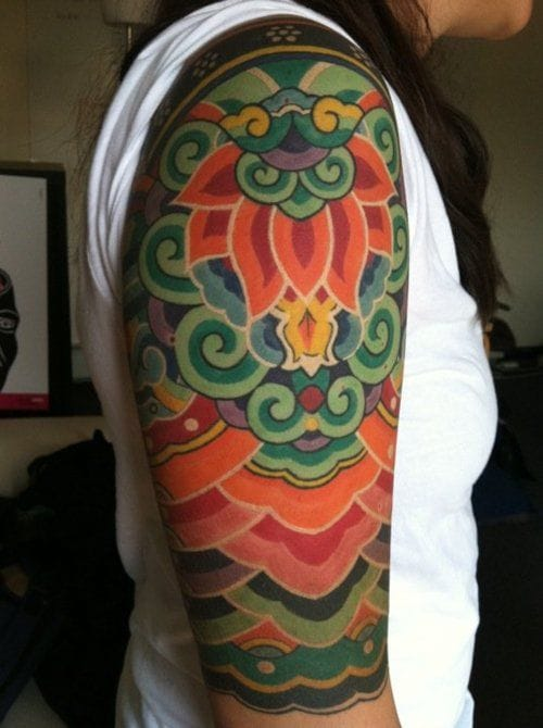 Vibrant Rainbow Tattoo