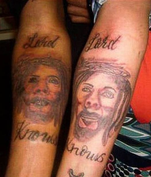 Hilarious Lord Knows tattoo