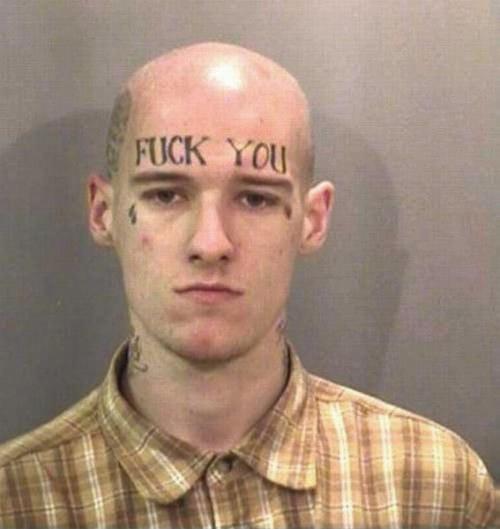 FUCK YOU eyebrows fail tattoo
