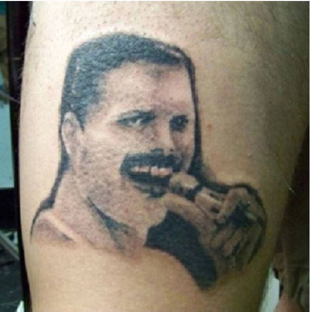 queen musician portrait tattoos