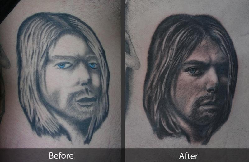 A rework of a Kurt Cobain portrait tragedy.